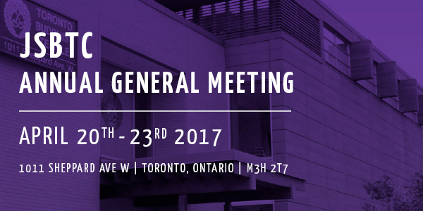 JSBTC Annual General Meeting – Apr. 21-23, 2017